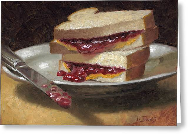 Peanut Butter Jelly Time Greeting Card by Timothy Jones
