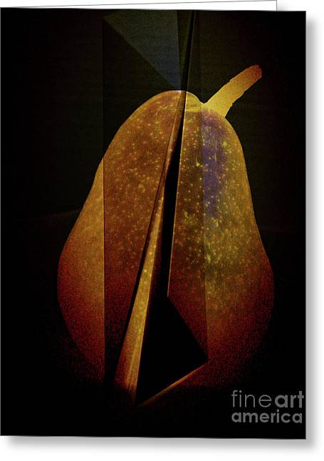 Abstract Digital Digital Art Greeting Cards - Pear Greeting Card by Elena Nosyreva