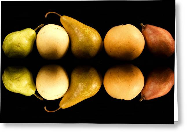 Pear Reflections Greeting Card by Cabral Stock