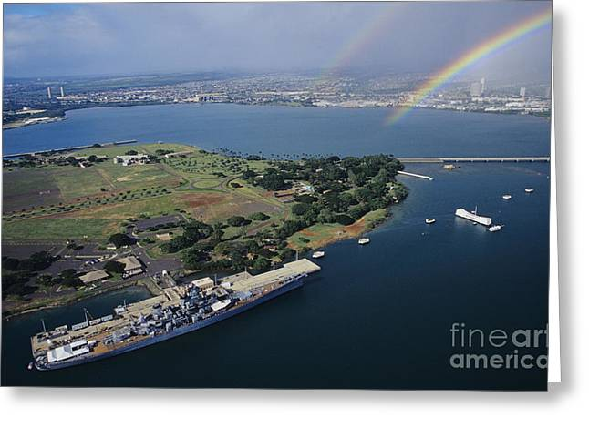 Afternoon Battle Greeting Cards - Pearl Harbor Greeting Card by Tomas del Amo - Printscapes