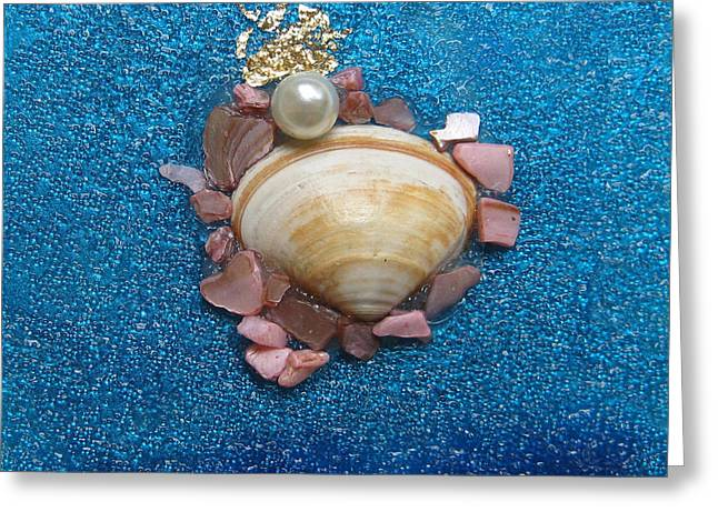 Sea Shell Glass Greeting Cards - Pearl of the North Sea Sylt No 2 Greeting Card by Heidi Sieber