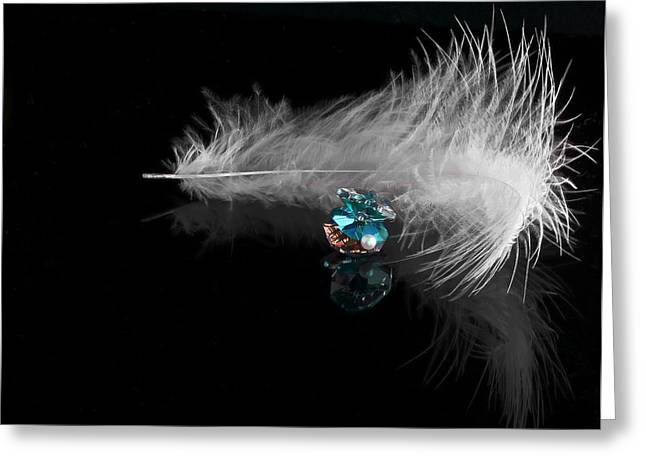White Pearl Greeting Cards - Pearl Greeting Card by Svetlana Sewell