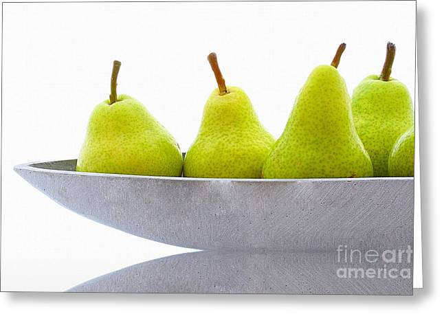 Pear Art Greeting Cards - Pears 2 Greeting Card by SK Pfphotography