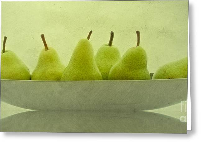 Pear Art Greeting Cards - Pears 3 Greeting Card by SK Pfphotography