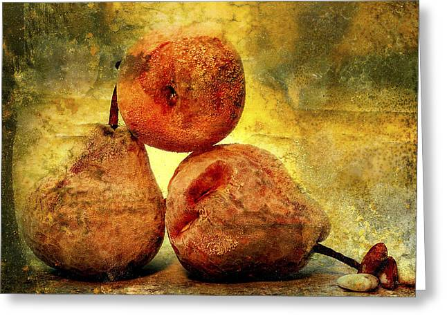 One Pear Greeting Cards - Pears Greeting Card by Bernard Jaubert