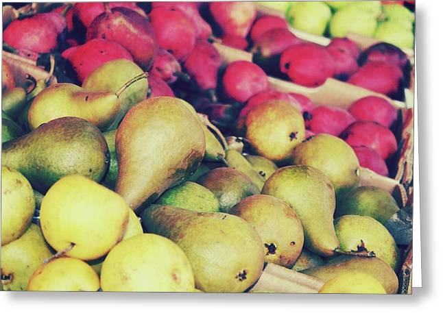 Pear Art Digital Art Greeting Cards - Pears Greeting Card by Cathie Tyler