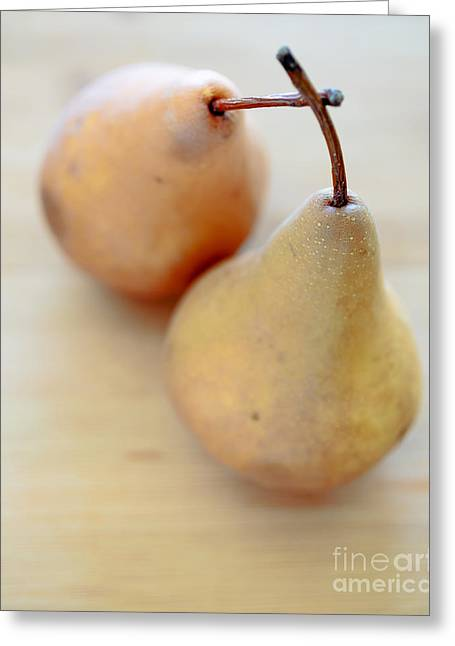 Food And Beverage Greeting Cards - Pears Greeting Card by Edward Fielding