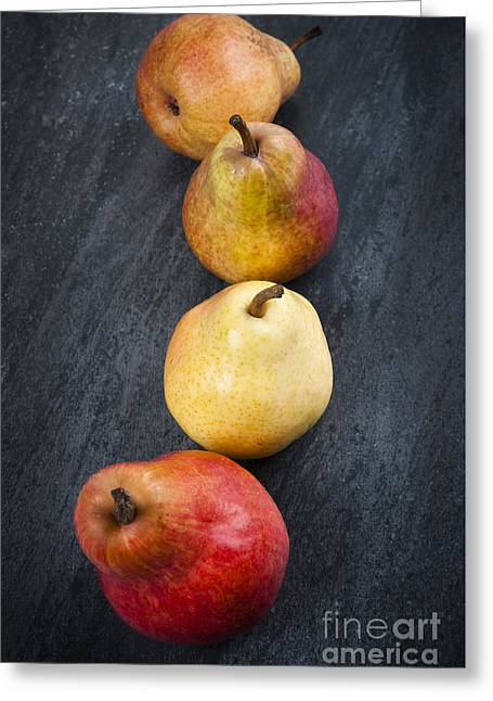 Pears From Above Greeting Card by Elena Elisseeva