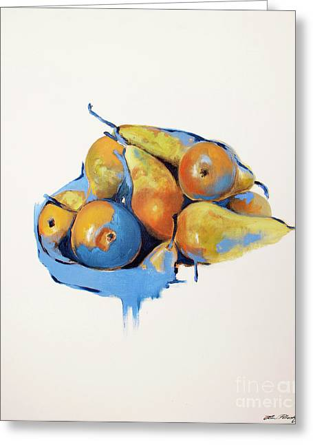 Lin Greeting Cards - Pears Greeting Card by Lin Petershagen