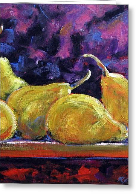 Pear Art Greeting Cards - Pears mioummmmmmmmmm Greeting Card by Richard T Pranke