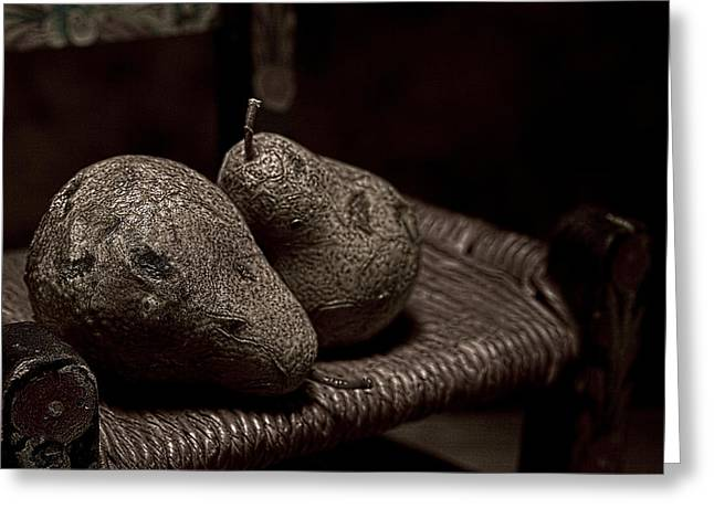 Pears On A Chair I Greeting Card by Tom Mc Nemar