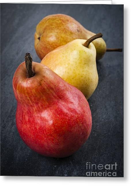 Pears Still Life Greeting Card by Elena Elisseeva