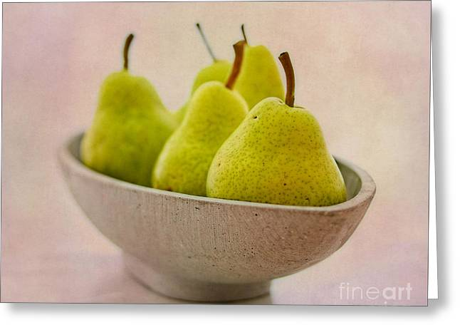 Pear Art Greeting Cards - Pears  Greeting Card by SK Pfphotography