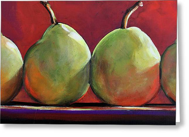 Peartastic Greeting Card by Toni Grote