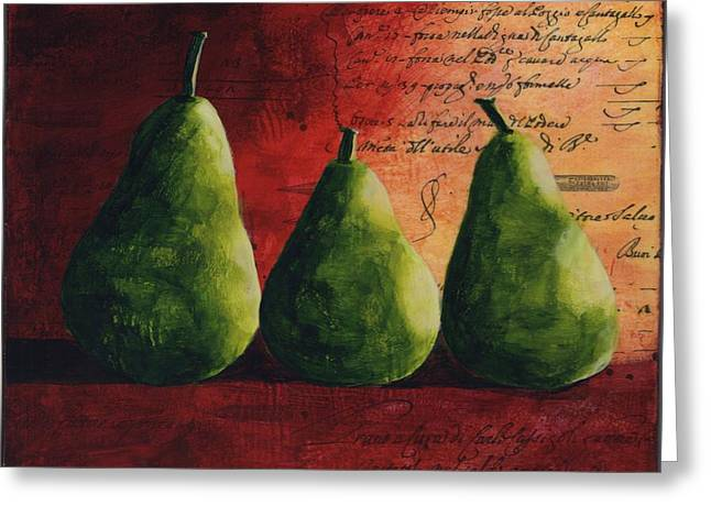Pairs Greeting Cards - Peary Tale Greeting Card by Cindy Johnston