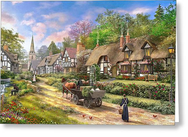Cottages Photographs Greeting Cards - Peasant Village Life Variant 1 Greeting Card by Dominic Davison