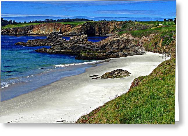 Californian Greeting Cards - Pebble Beach Greeting Card by D M