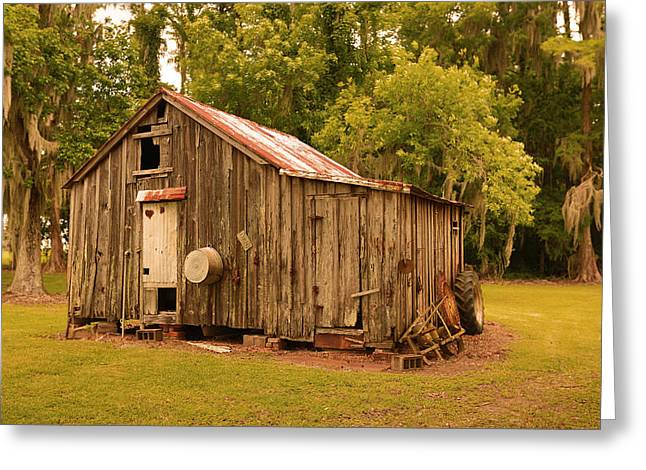 Sheds Greeting Cards - Cypress Shed Greeting Card by Ronald Olivier