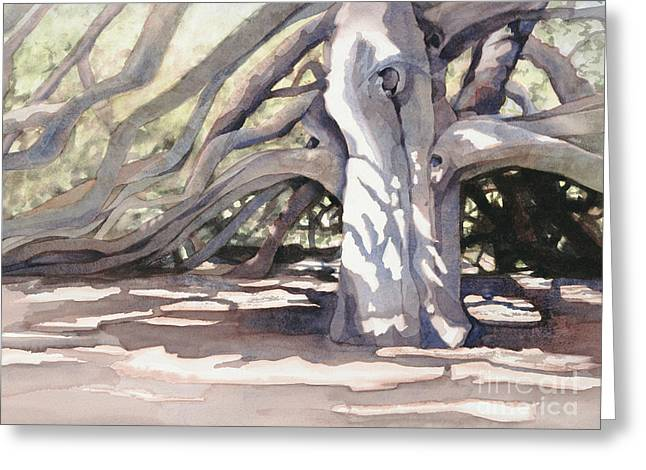 Sacred Paintings Greeting Cards - Pechanga Great Oak Greeting Card by Bonnie Rinier