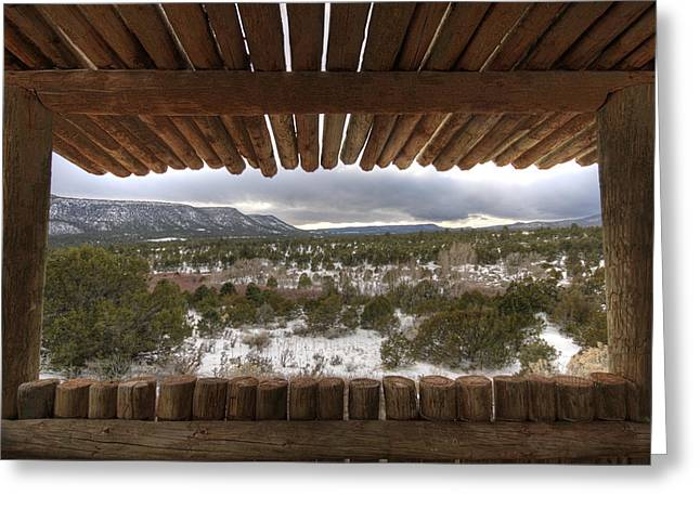 Mountain Cabin Greeting Cards - Pecos Greeting Card by Bryan Hochman