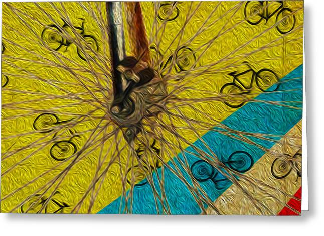 Pedal Power Greeting Card by Bill Cannon