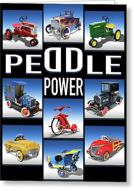 Peddle Power Greeting Card by Mike McGlothlen