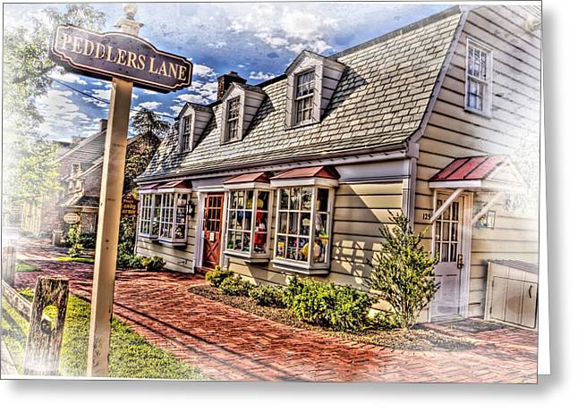 Store Fronts Greeting Cards - Peddlers Village New Hope PA Greeting Card by Geraldine Scull