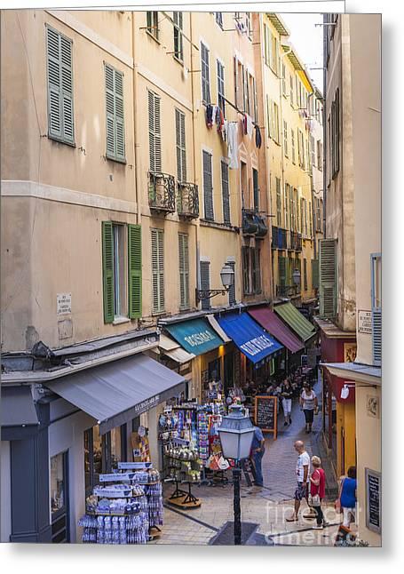 Street In Old Nice Greeting Card by Elena Elisseeva