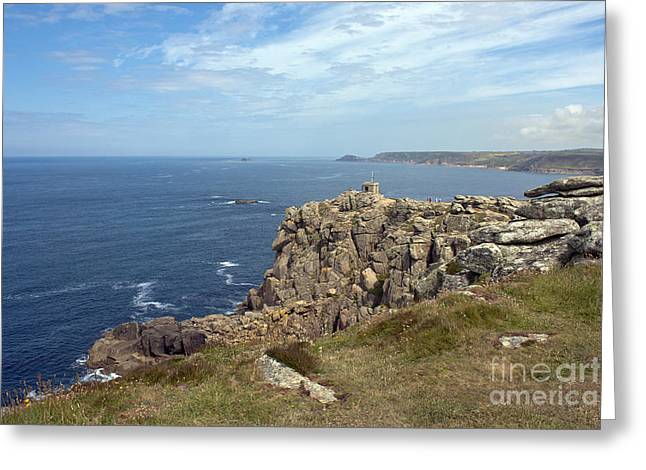 Cape Cornwall Greeting Cards - Pedn-men-du Greeting Card by Terri  Waters