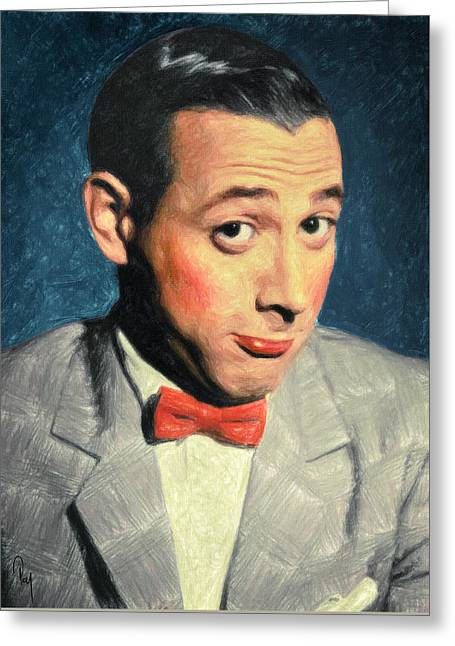 Pee-wee Herman Greeting Card by Taylan Soyturk
