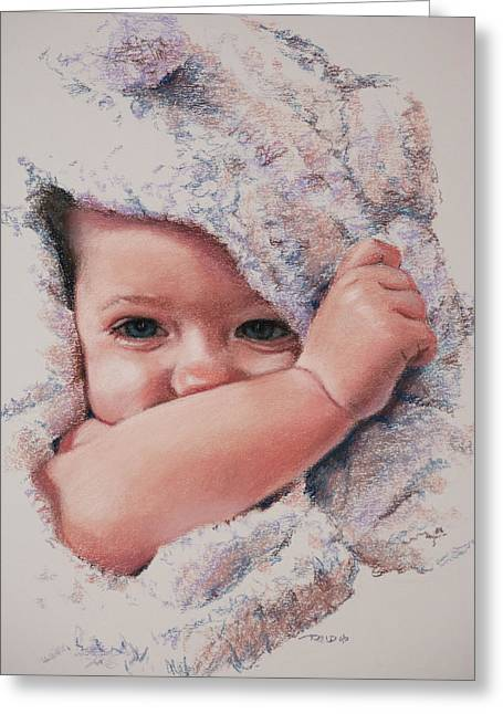 Pastel Greeting Cards - Peek A Boo Greeting Card by Christopher Reid