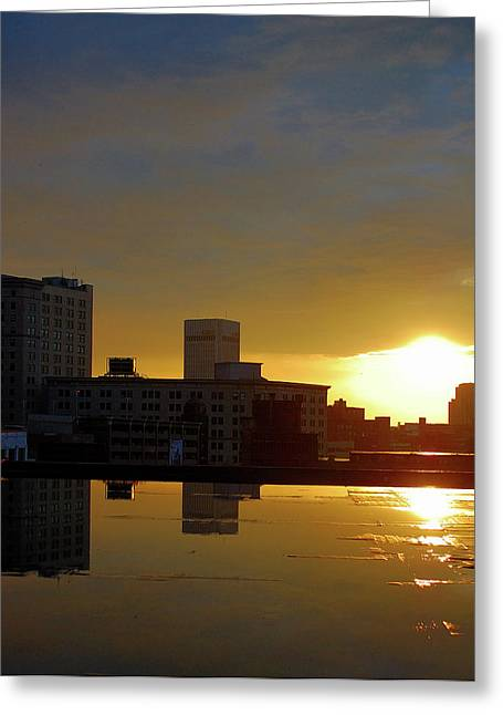 Csu Greeting Cards - Peeking Sun Greeting Card by Tom Kilbane