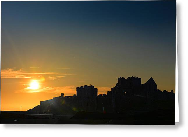Sand Castles Greeting Cards - Peel Castle Greeting Card by Paul Davenport