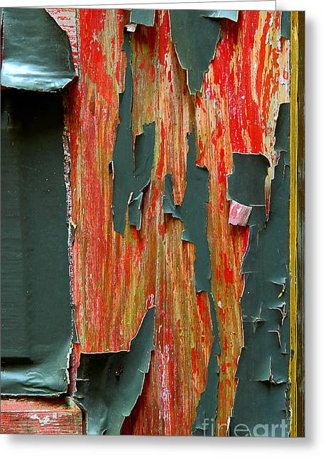Painted Details Greeting Cards - Peeled Greeting Card by Michael Eingle