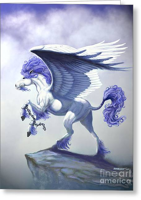 Pegasus Unchained Greeting Card by Stanley Morrison