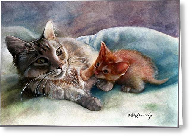 Peggy Sue And Sammy Greeting Card by Kate Daniels