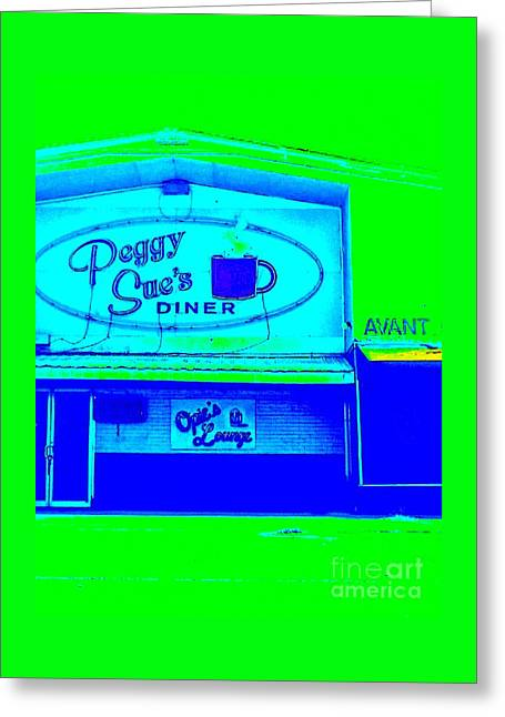 Peggy Sue's Diner Greeting Card by Paula   Baker
