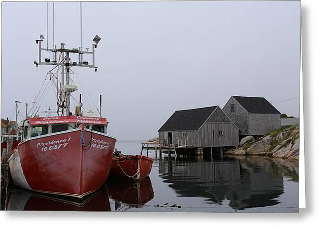 Peggy's Cove Fishing Boat Greeting Card by Imagery-at-Work