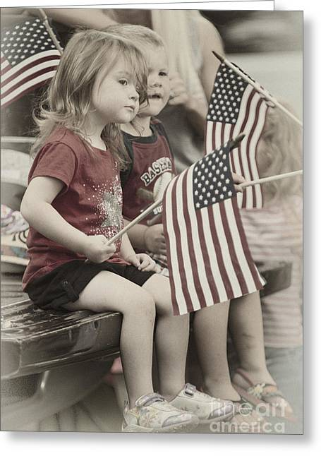 4th July Greeting Cards - Pekin Parade - D009611-a Greeting Card by Daniel Dempster