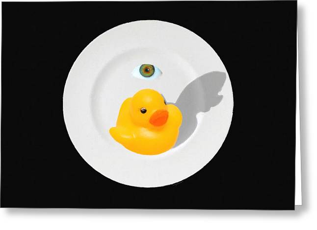 Peking Greeting Cards - Peking Duck 20150711 blk Greeting Card by Wingsdomain Art and Photography