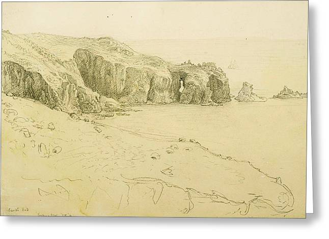 Pele Point, Land's End Greeting Card by Samuel Palmer