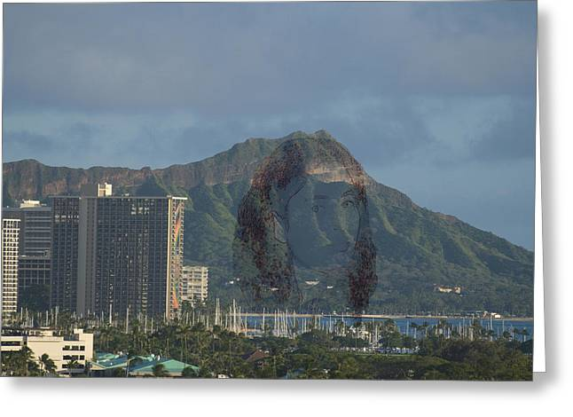 Pele Greeting Cards - Pele Shows Herself On Diamondhead Greeting Card by Richard Henne