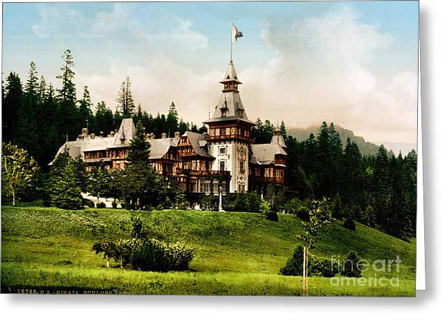 Pele Greeting Cards - Peles Castle Greeting Card by Celestial Images