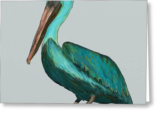 Pelican Bellican Greeting Card by Patti Siehien