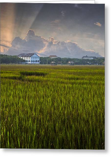 Tidal Photographs Greeting Cards - Pelican Inn Sunrise Greeting Card by Ginny Horton