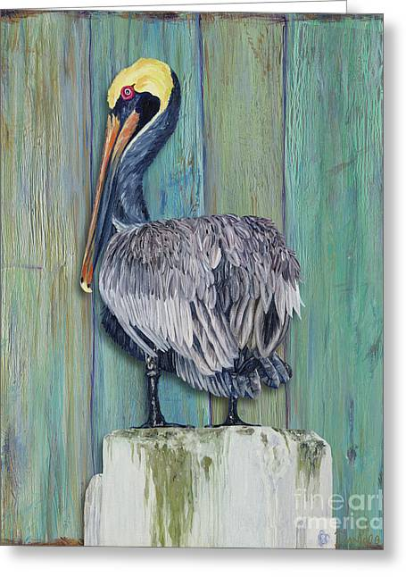 Pelican Perch 2 Greeting Card by Danielle Perry