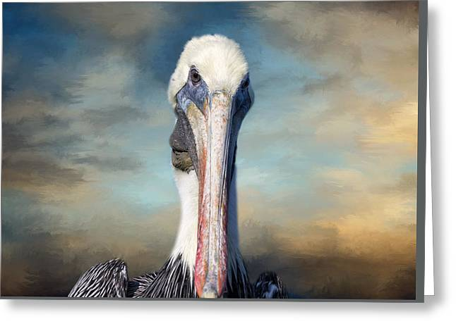 Kim Photographs Greeting Cards - Pelican Profile Greeting Card by Kim Hojnacki