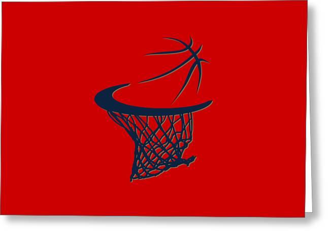 Sweat Greeting Cards - Pelicans Basketball Hoop Greeting Card by Joe Hamilton