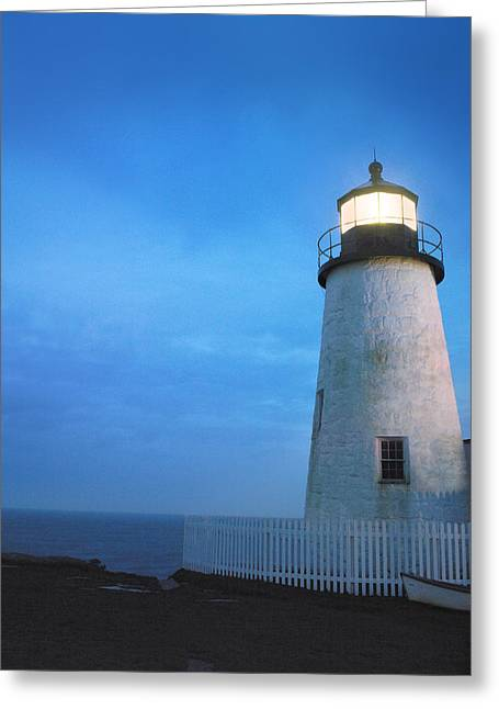 Maine Lighthouses Greeting Cards - Pemaquid Lighthouse, Bristol, Me Greeting Card by Ink and Main