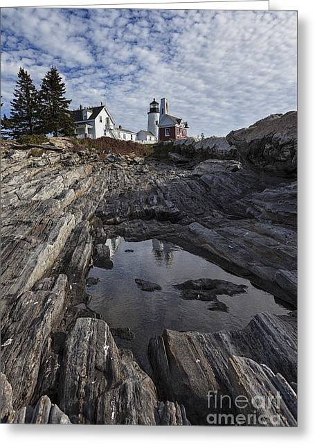 Boothbay Harbor Greeting Cards - Pemaquid Lighthouse Greeting Card by Timothy Johnson